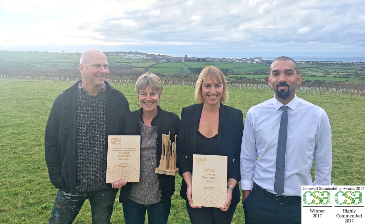 Jackson Foundation team with Cornwall Sustainability Awards