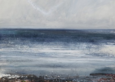 Low tide, big sea. 7/2/2011.