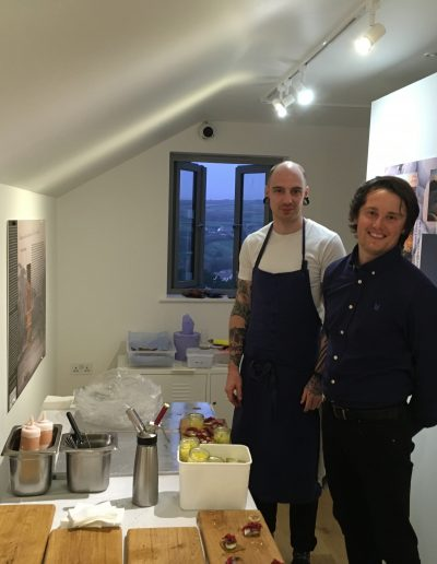 The Old Coastguard head-chef Matt and front of house Tim.
