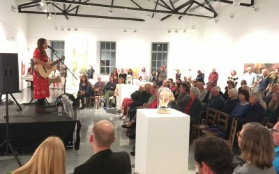 The Jackson Foundation raises over £4,000 for Cornwall Wildlife Trust through and evening of Art, Wine, Music and Nature.