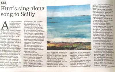Kurt Jackson: Scilly – In Western Morning News