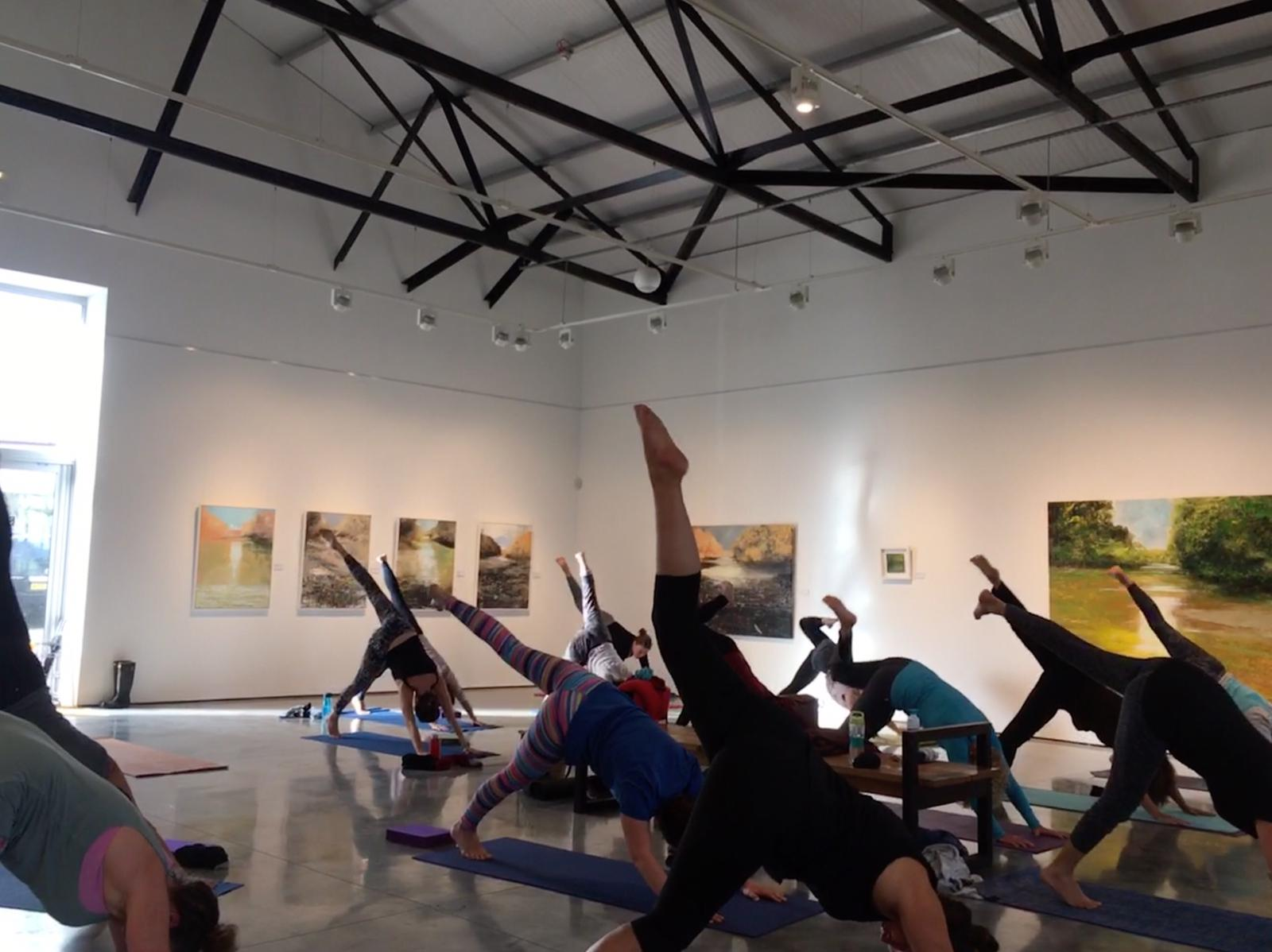 Charity Yoga in the Gallery