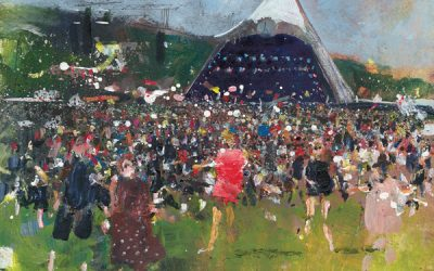 WIN AN ORIGINAL KURT JACKSON GLASTONBURY PAINTING.